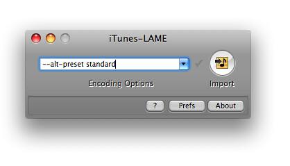 iTunes LAME setup