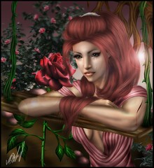 A rose is free, a rose is wild ( Venena ) Tags: art nature rose sim sims simart venena