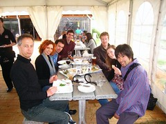 pierre moi adam luke nicky t yuichi  In this photo: Karen LeBlanc, Adam Reynolds, Luke Eaton, Nick John, Tegan Chubb