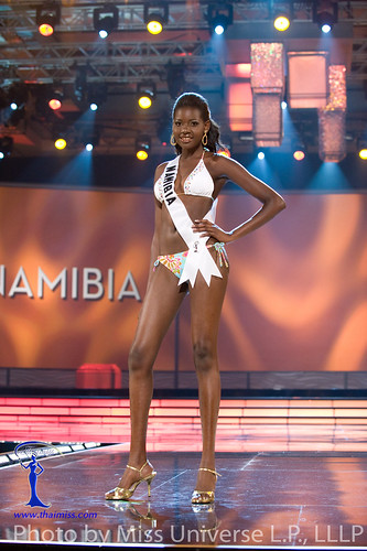 Happie Ntelamo walks the ramp in BSC Swimwear