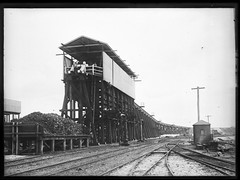 Coal Stage, Port Waratah Locomotive Depot, Carrington, NSW [1908] (Cultural Collections, University of Newcastle) Tags: newcastle australia nsw coal 1908 carrington coalloading portwaratah ralphsnowball snowballcollection ralphsnowballcollection asgn0691b29 newcastleregionnswhistorypictorialworks photographynewsouthwalesnewcastle railroadsnewsouthwalestrains