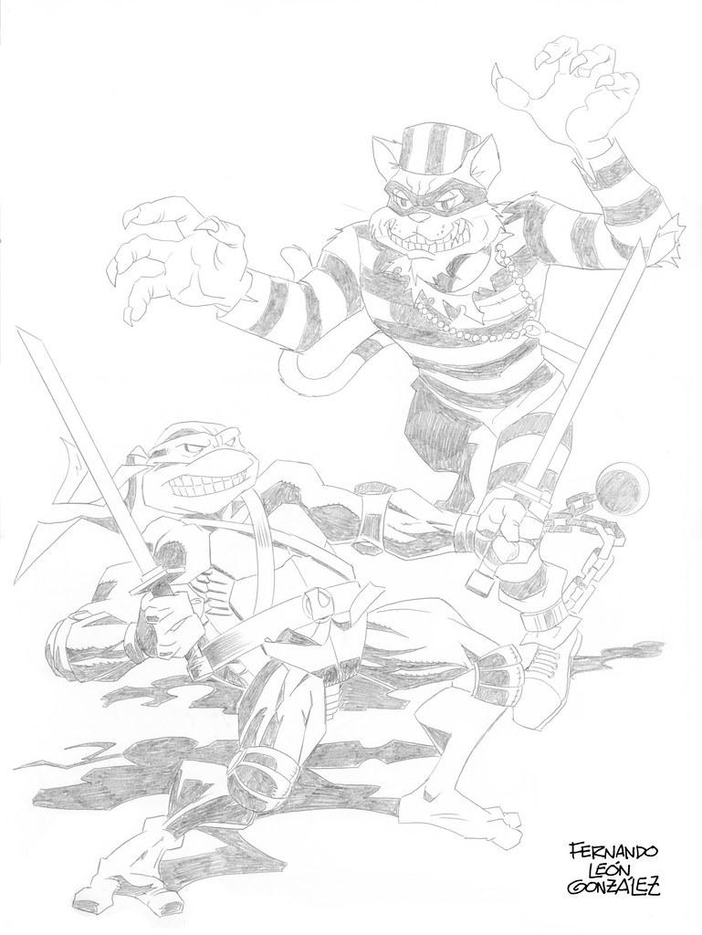 """LEO v. SCRATCH"" - Jake Black benefit T-shirt pencils.. art by Fernando León González   (( 2009 ))"