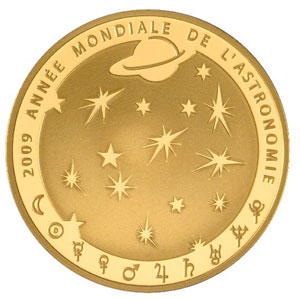 APOLLO 11 / ANNEE MONDIALE DE L'ASTRONOMIE 2009 / FRANCE 50 EUROS OR