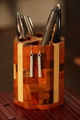 Woven wire earrings