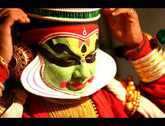 Kathakali Makeup | BCKA (@k@sh) Tags: club canon 350d 50mm for bangalore scout read f18 kathakali akash malleswaram explored xplore artsbcka tadka09wk36