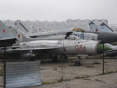 "MiG-21PF ""Fishbed-D"" (Skitmeister) Tags: 2005 museum airplane russia moscow space aircraft aviation air jets central jet helicopter soviet helicopters russian flugzeug letadlo russie mig rusland ussr moscou vliegtuig самолет sukhoi sssr россия udssr yakovlev frunze khodynka поле ссср ввс ходынское skitmeister"