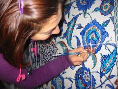 Ayasofya Müzesi 2. Selim Türbesi çini restorasyonu (Ozlem Cakirli) Tags: art tile islam osmanli türk ayasofya tezhip müze özlem tezhib altın çini varak restorasyon geleneksel türbesi kalemişi nakkaş sanatları kalemkar ozlamcakirli ozlemcakirli bezeme 2selim