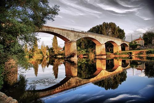 Gothic bridge in france