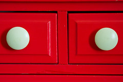I think my dresser is watching me! (nisswa_mike) Tags: red arizona white home phoenix lines fun crack drawer cracks dresser knob