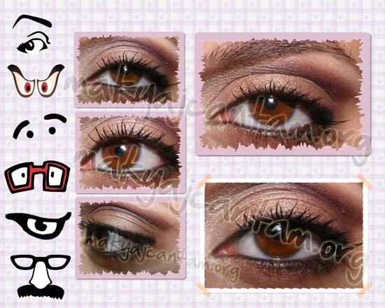 koyu renk göz makyajı örneği kozmetik makyaj yapımı
