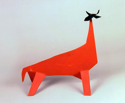 Calder, Red Cow with Black Head