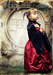Bewitched (VictoriaScreams) Tags: red texture halloween girl graveyard vintage witch ghost spooky hammerhorrorfilm playingwithbrushes coffeshoplomoaction