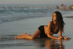Kiryat yam coast (avibenzaken) Tags: baby cute sexy beach water girl coast israel costume amazing women babe suit yam wife bathing splash swimsuit  kiryat