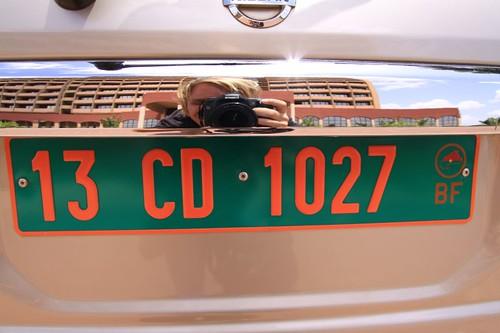 License plate, Burkina Faso.