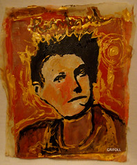 Rimbaud- Mixed Media on Polyester on wood. (Homages)30cmX35cm. (GRIF