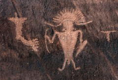 Petroglyphs along Potash Road (Ron Wolf) Tags: utah nativeamerican petroglyph archeology rockart anthropomorph anthromorph fremontculture