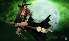 Dancer Dallagio: Miss Ireland MVW Halloween October BOSL Magazine by Absinthe Primrose (dancer Dallagio) Tags: irish green halloween blackcat witch redhead lastcall damselfly broomstick missireland alienbear dancerdallagio baiastice absintheprimrose superamazingphoto lostangelpose boslmagazine missvirtualworld2010finalist