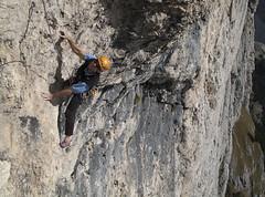 Renato climbing his