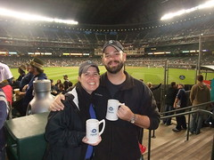 Two Baseball & Beer Fans (glkaiser) Tags: beer oktoberfest mariners safeco