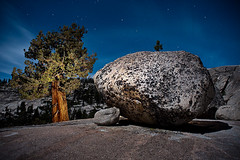 Olmsted Point, Yosemite (Lance Keimig) Tags: blue lightpainting night yosemite granite monolake olmstedpoint jeffreypine