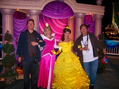 Kurtie and me with Aurora and Belle at Mickey's Trick-Or-Treat Party (Loren Javier) Tags: halloween me disneyland aurora belle sleepingbeauty californiaadventure paradisepier disneycharacters disneyprincesses beautythebeast halloweentime disneylandcharacters disneylandcastmembers lorenjavier mickeystrickortreatparty kurtnielsen disneysprincesses