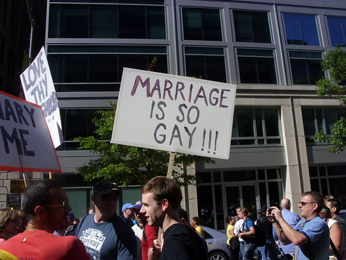 """Marriage Is So Gay!!!"" Sign"