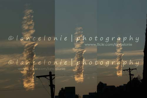 I Saw A Weird Cloud Tonight (triptych) by www.lancelonie.com, on Flickr