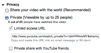 youtube share url feature