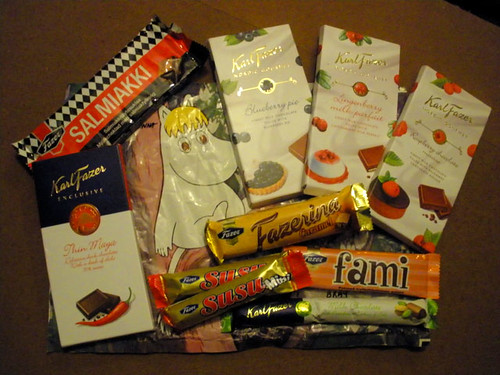Chocolate swap from Finland