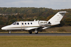 OM-OPR - 525-0101 - Private - Cessna 525 CitationJet - Luton - 091023 - Steven Gray - IMG_2829