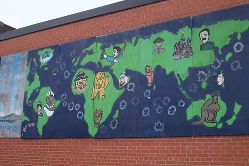 Parkdale mural globe