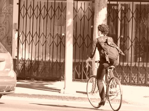 Sepia City Rider