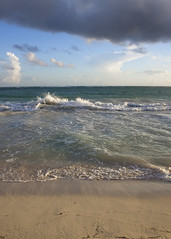 watching the waves roll in (jess hughes) Tags: ocean morning sea sky beach sunrise dawn sand waves dominicanrepublic carribean tropical splash puntacana