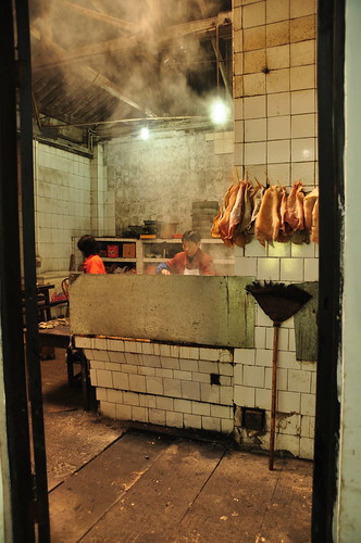 Kitchen in restaurant on QingCheng Mountain