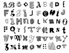 Letters 17 (Don Moyer) Tags: moleskine ink typography drawing letters doodle alphabet moyer donmoyer