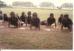 Honduran Officer Candidates Practicing Teamwork