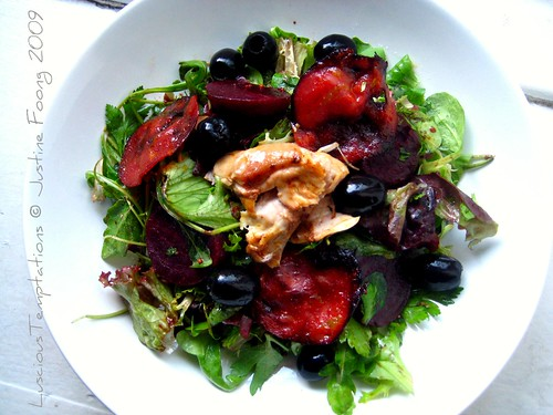 Chicken, Chorizo and Beetroot Salad