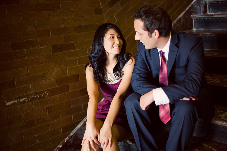 Mychang + Stephen engagement session in downtown LA, los angeles