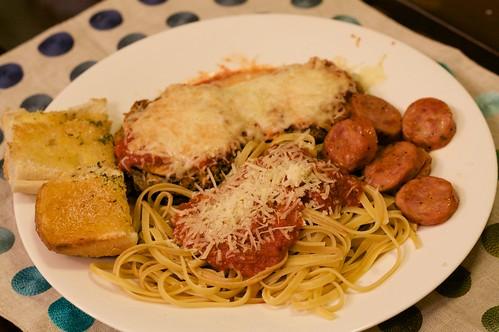 Eggplant Parmesean Dinner
