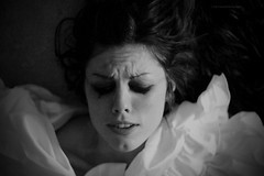 Love hurts (Eni Turkeshi Imagery) Tags: portrait people bw girl face pain eyes clown expressionist expressive feeling cinematic emotions passionate lovehurts mimics marielito fotografkiraathanesi fotografeshqiptare independentphotos fotografca