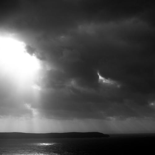 Sky and sea - contemplating rain