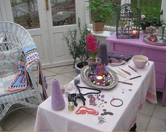 My Creative Space November 25 (Fleur de Boheme) Tags: interior crochet jewellery earrings textileart filigree textilecraft fleurdebohme