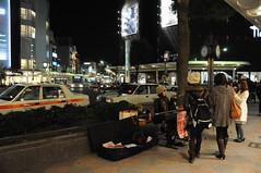 Busker outside Takashimaya, Kyoto