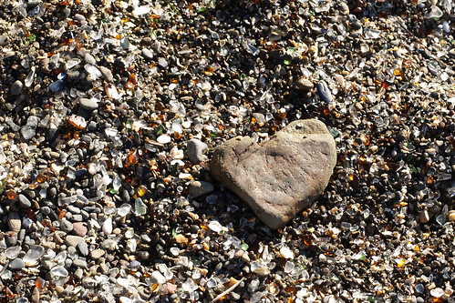 A heart at the Glass Beach