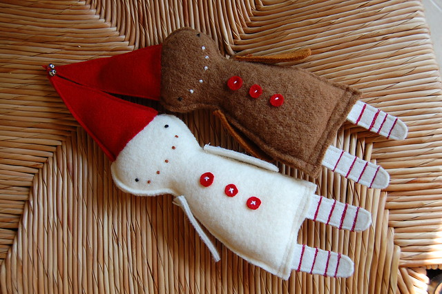 fa la la la felt :: gingerman + sugar cookie friend
