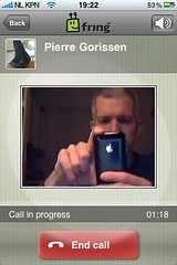 Videconferencen met Fring (foto door: PiAir (Old Skool))