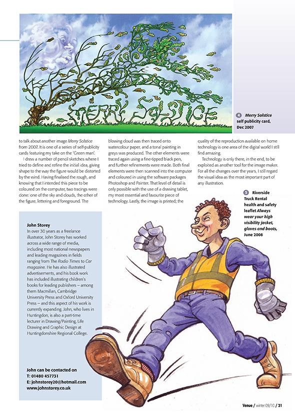 Venue Magazine-John Storey Illustrator page 2