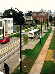 a complete street in Charlotte (courtesy of US EPA)