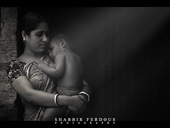 Mother and Child (Shabbir Ferdous) Tags: light portrait blackandwhite woman art monochrome eyes ray photographer child shot expression mother dhaka capture tone bangladesh bangladeshi tangail ef70200mmf28lisusm canoneos5dmarkii shabbirferdous wwwshabbirferdouscom shabbirferdouscom