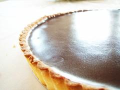 chocolate crunched caramel tart - 29